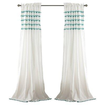 Aria Pom Pom Single Curtain Panel Product Photo