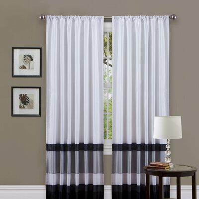 Iman Rod Pocket Single Curtain Panel Product Photo