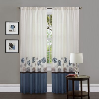 Tender Blossom Polyester Window Panels Product Photo