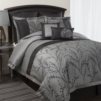 Special Edition by Lush Decor Flower Texture 8 Piece Comforter Set
