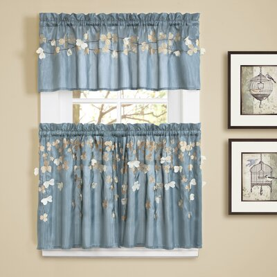 Flower \ Kitchen Tier Curtain (Set of 2) Product Photo