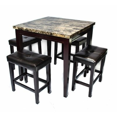 5 Piece Pub Table Set by Andover Mills