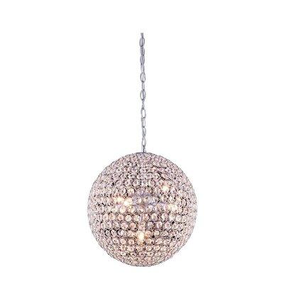 Cabaret 5 Light Globe Pendant by Elegant Lighting