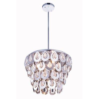 Sophia 4 Light Crystal Pendant by Elegant Lighting