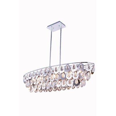 Sophia 7 Light Crystal Pendant by Elegant Lighting