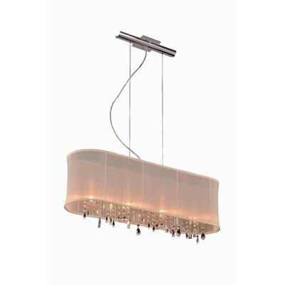 Harmony 4 Light Kitchen Island Pendant by Elegant Lighting