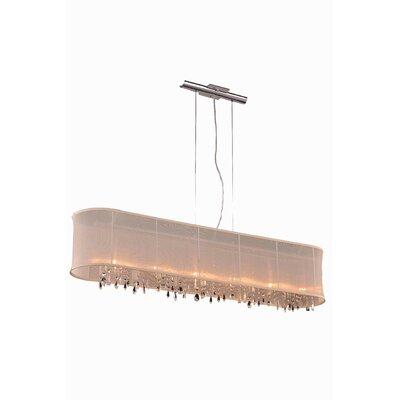 Harmony 6 Light Kitchen Island Pendant by Elegant Lighting