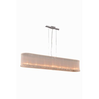 Harmony 7 Light Kitchen Island Pendant by Elegant Lighting