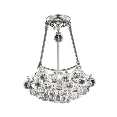 Corona 4 Light Crystal Chandelier by Elegant Lighting