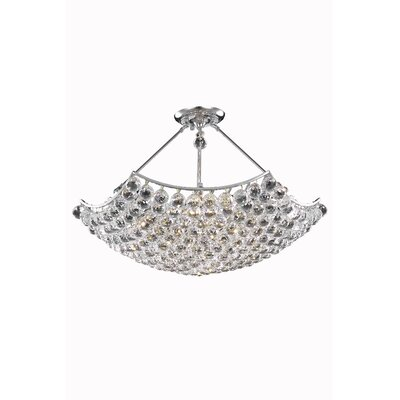 Corona 12 Light Crystal Chandelier by Elegant Lighting
