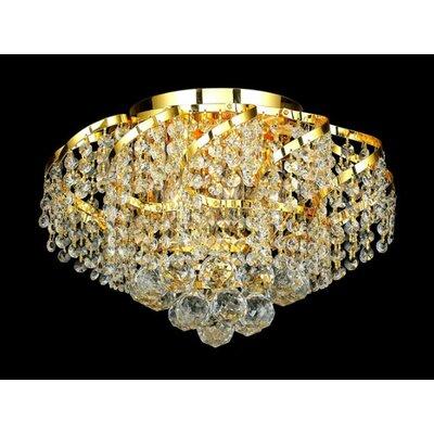 Elegant Lighting Belenus 6 Light Flush Mount