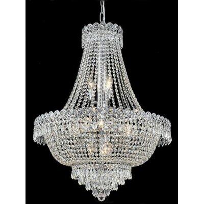 Elegant Lighting Century 12 Light Chandelier with Crystal