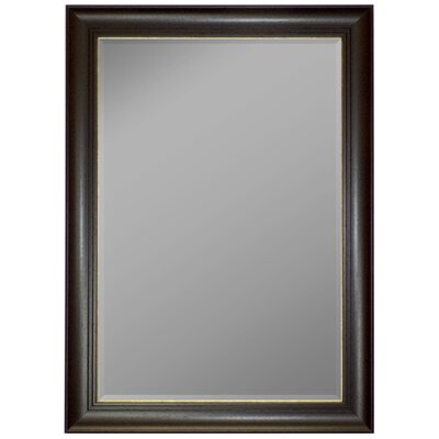 Austrian Stepped Mahogany Silver Trim Framed Wall Mirror by Second Look Mirrors