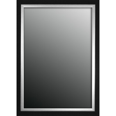 Natural Ebony Black/Silver Trim Framed Wall Mirror by Second Look Mirrors