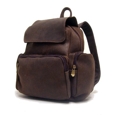 Women's Leather Multi Pocket Backpack by Le Donne Leather