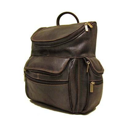 Distressed Leather Laptop Backpack by Le Donne Leather