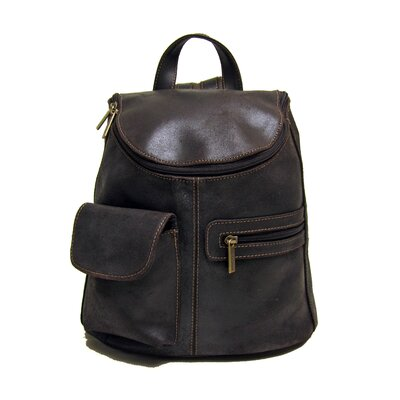 Distressed Leather Women's Backpack by Le Donne Leather