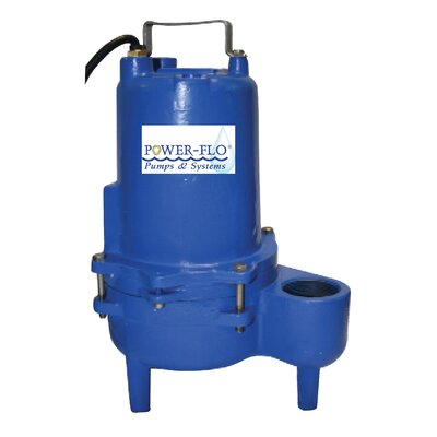 Power-Flo 4/10 HP Sewage Submersible Pump with 12 Amps Automatic Operation