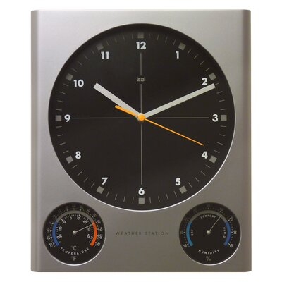 Tank Weather Station Wall Clock by Bai Design
