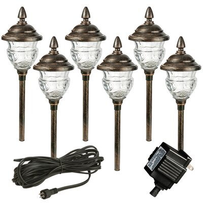 Paradise garden lighting low voltage 6 piece orb path for Low voltage walkway lighting sets