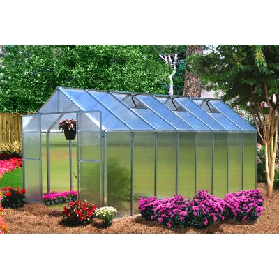 Monticello 8 Ft. W x 16 Ft. D Premium Polycarbonate Greenhouse by Riverstone Industries ...