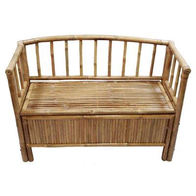 Natural Bamboo Storage Bench by Bamboo54