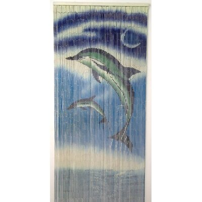 Bamboo54 Natural Bamboo Dolphins Design Single Curtain Panel