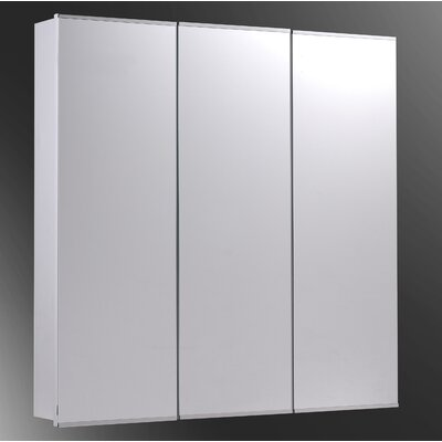 "Tri-View 30"" x 30"" Surface Mount Beveled Edge Medicine Cabinet Product Photo"