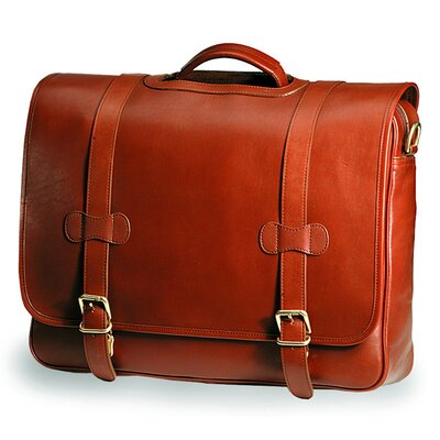 Bridle Executive Porthole Leather Laptop Briefcase by Clava Leather