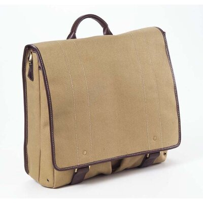 Canvas Messenger Bag by Clava Leather