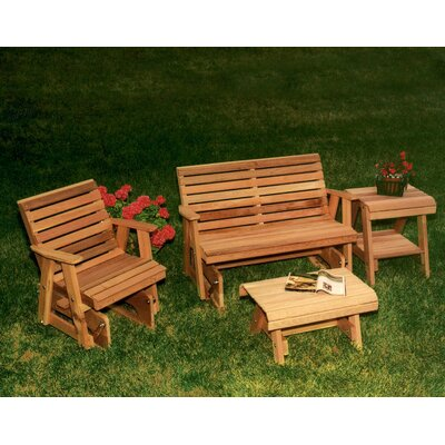 Cedar Rocking Classic Gliders and Tables Set by Creekvine Designs