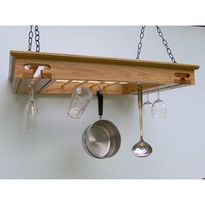 Wine Glass Hanging Pot Rack by Laurel Highlands Woodshop