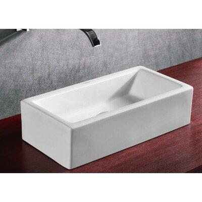 Ceramica Rectangular Bathroom Sink Product Photo