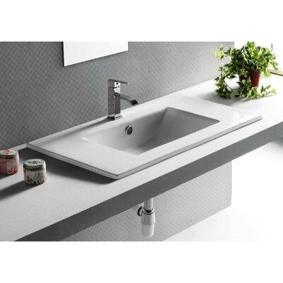 Caracalla Ceramica Rectangular Self Rimming Bathroom Sink
