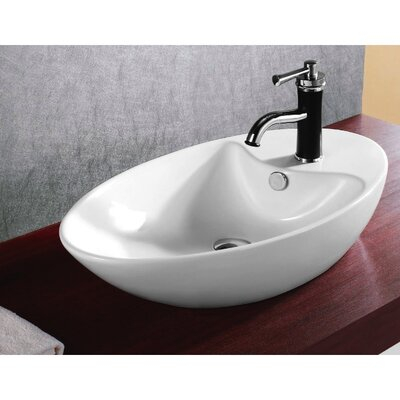Caracalla Ceramica Oval Vessel Bathroom Sink