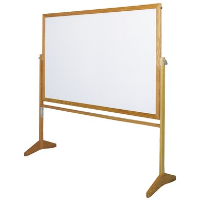 Claridge Products Premiere Free Standing Reversible Whiteboard, 4' x 5'