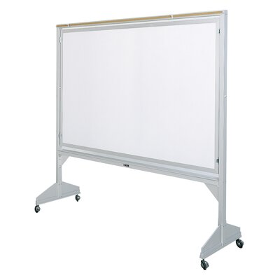 Claridge Products Deluxe Two-Sided Free Standing Reversible Whiteboard, 4' x 6'