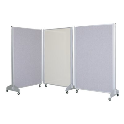 Claridge Products Premiere Portable Panelling System Free Standing Combination Bulletin Board