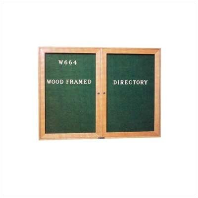 Claridge Products Wide Wood Framed Directory Wall Mounted Letter Board, 3' x 4'