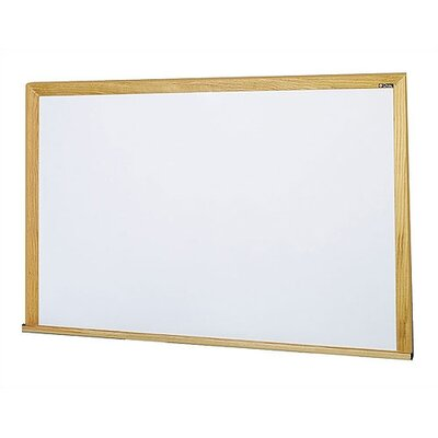 Claridge Products Special Low Gloss Deluxe Wall Mounted Magnetic Whiteboard, 4' x 4'