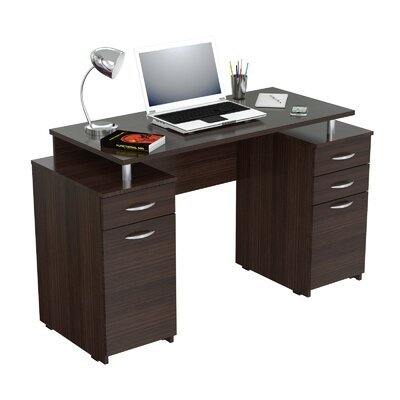 Inval Double Pedestal Computer Desk & Reviews | Wayfair