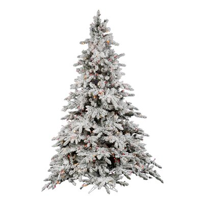 Vickerman 6 5 Flocked Utica Fir Artificial Christmas Tree