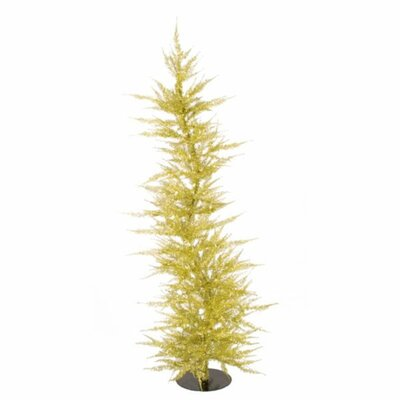 Whimsical 5' Gold Laser Artificial Christmas Tree by Vickerman