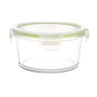 GoGreen Glassworks 13 oz. Round Oven Safe Food Storage Container with Lid by Kinetic