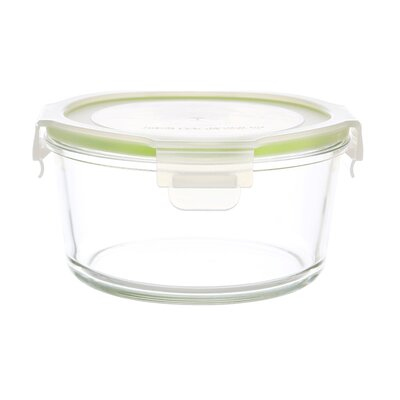 GoGreen Glassworks 28 oz. Round Oven Safe Glass Food Storage Container with Lid by Kinetic ...