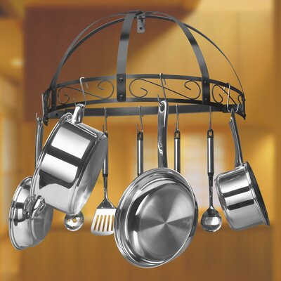 Classicor Series Wrought-Iron Semicircle Pot Rack by Kinetic