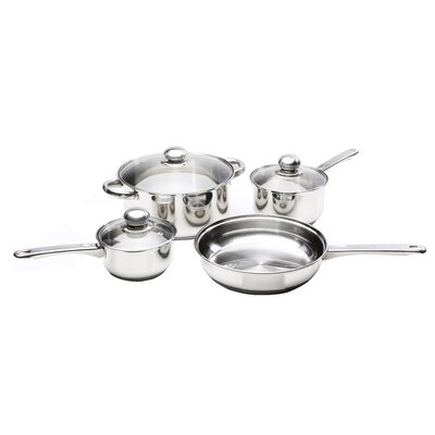 Classicor 7-Piece Stainless Steel Cookware Set with Lids by Kinetic