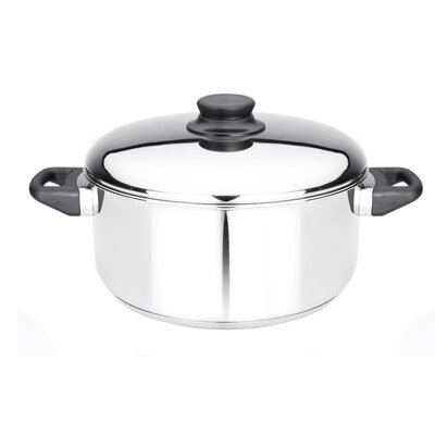 Kitchen Basics 5-1/2-Quart Stainless Steel Covered Dutch Oven by Kinetic