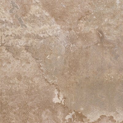 "Congoleum DuraCeramic  Rustic Stone 16"" x 16"" x 4.06mm Luxury Vinyl Tile in Light Beige"