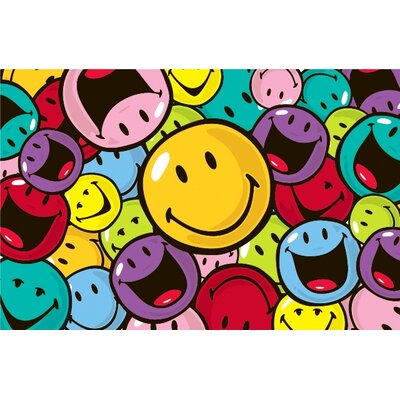 Fun Rugs Smiley World Smiles and Laughs Area Rug